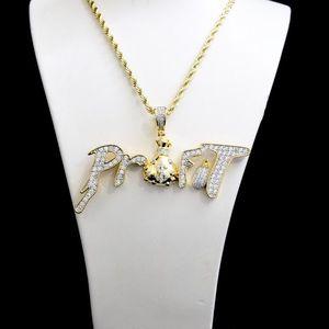 Other - 14k Gold Finish Lab Diamond PROFIT Charm Chain